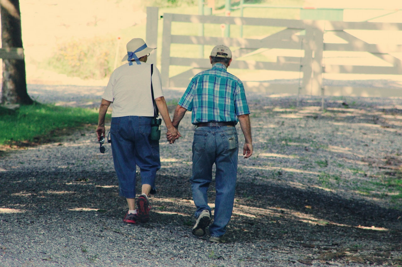 Ett äldre kärlekspar